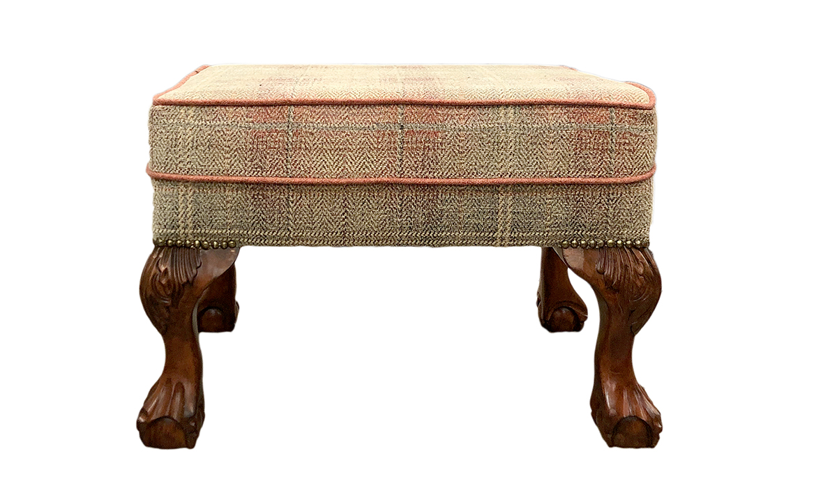 King Footstool in Jbrown Eluin 3 Terracotta Platinum Collection