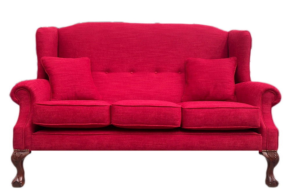 Bespoke King 3 Seater Sofa (180cm) - J Brown Senna 36 Red