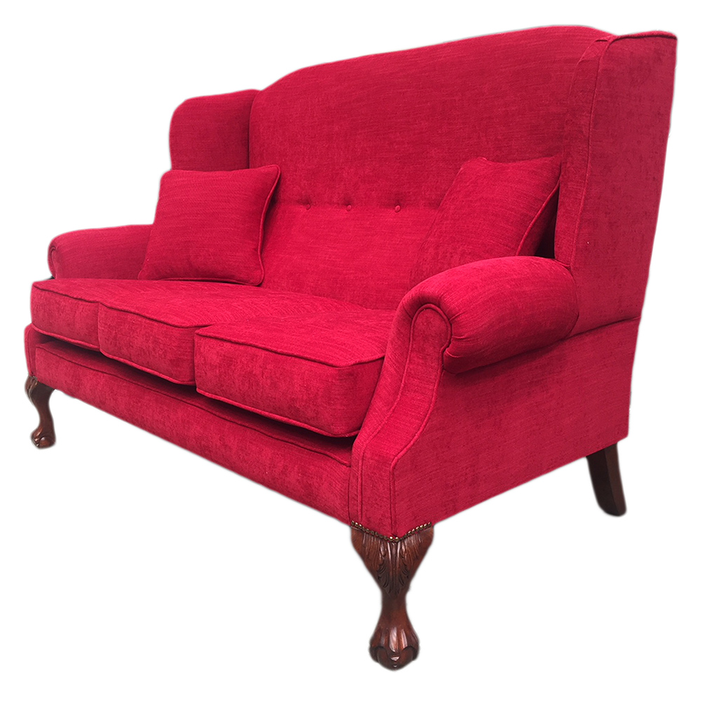 Bespoke King 3 Seater Sofa Side (180cm) - J Brown Senna 36 Red