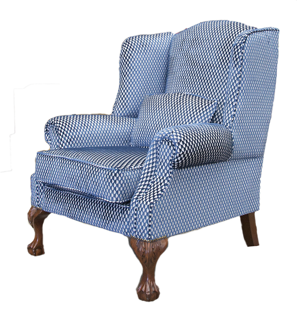 King Chair Side - Pepino Indigo