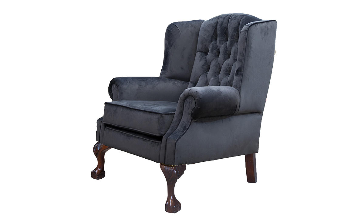 King-Chair-Side-with-Deep-Button-back-in-Luxor-Tempest-Silver-Collection-Fabric