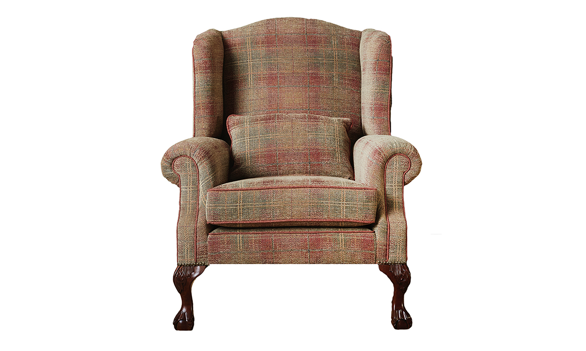 King Chair in Jbrown Eluin 3 Terracotta Platinum Collection