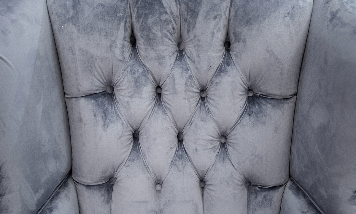 King-Chair-with-Deep-Button-back-detail-in-Luxor-Tempest-Silver-Collection-Fabric
