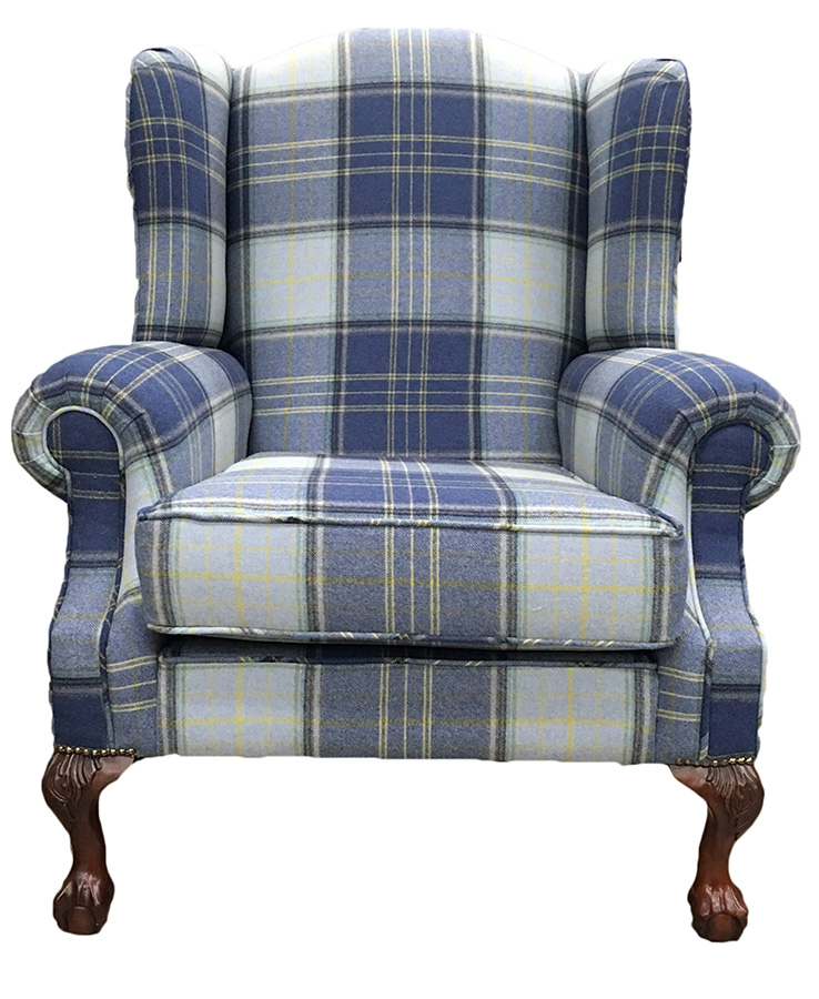 King Chair - Warwick Fabric - Platinum Plus