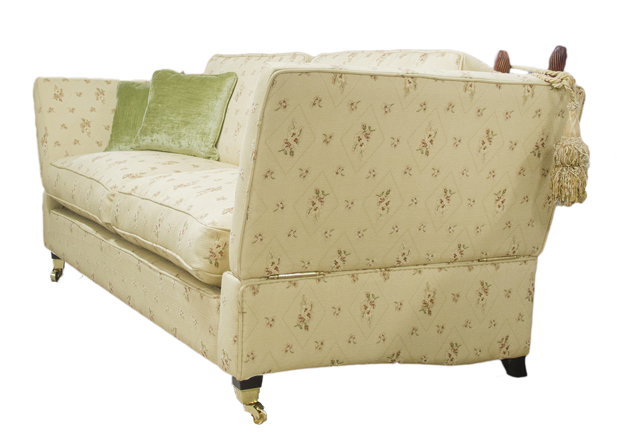 Knave Large Sofa Side In Semi Ramis Mini Platiumn Collection Fabric