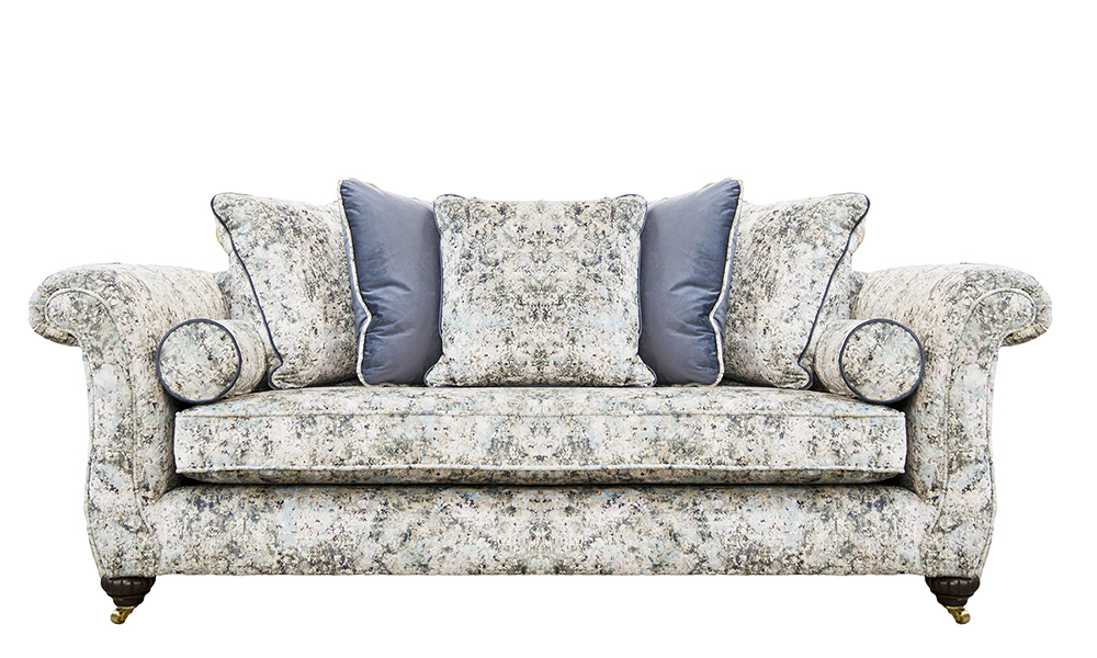 La Scala Large Sofa in Igloo Ocean, Platinum Collection Fabric