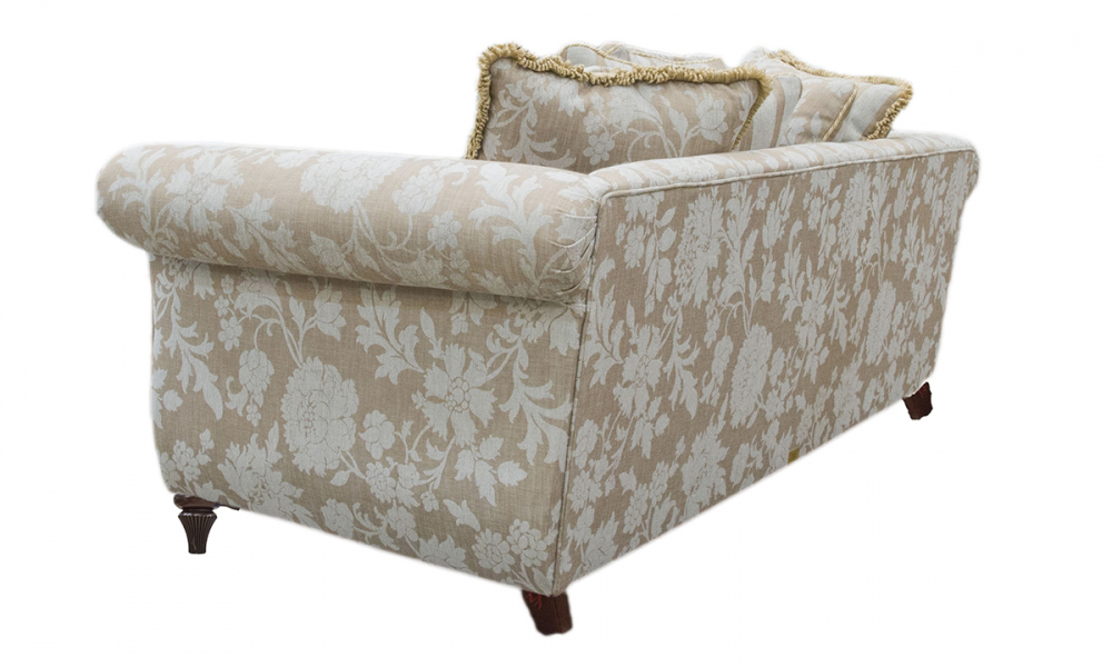 La Scala 3 Seater Sofa a in Balamir Pattern Ice, Silver Collection Fabric