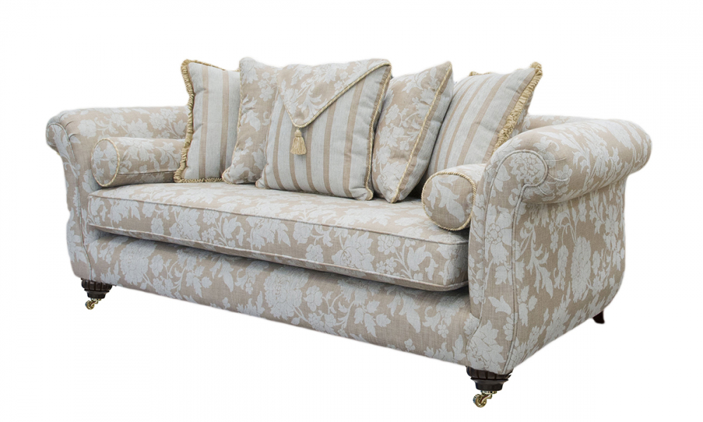 La Scala Large Sofa in Balamir Pattern Ice, Silver Collection Fabric