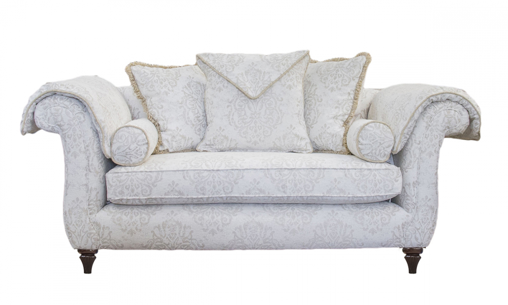 La Scala Small Sofa in a Silver Collection Fabric