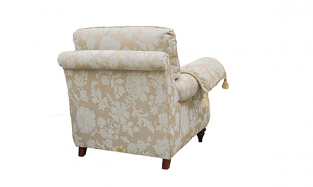 La Scala Chair in Silver Collection Fabric