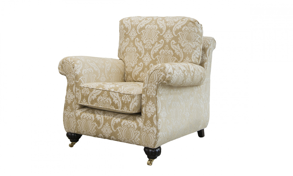 La Scala Chair in Tolstoy Straw Pattern, Platinum Collection Fabric