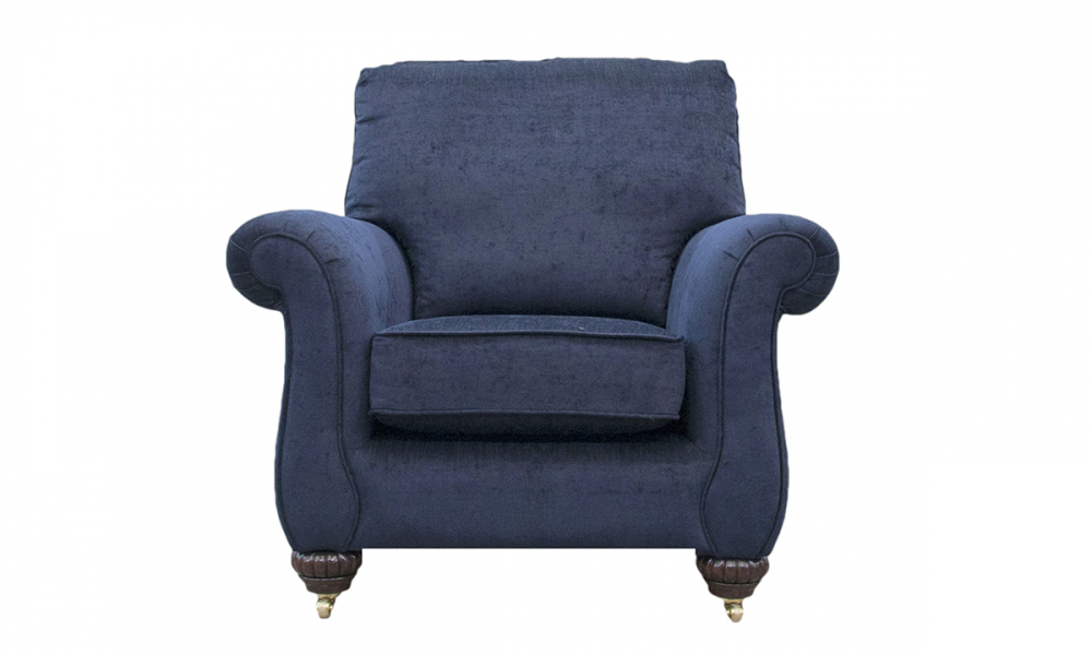 La Scala Chair in Mancini Carbon, Silver Collection Fabric