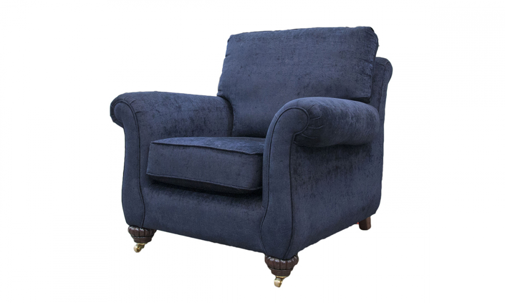 Lafayette Chair in Mancini Carbon, Silver Collection Fabric