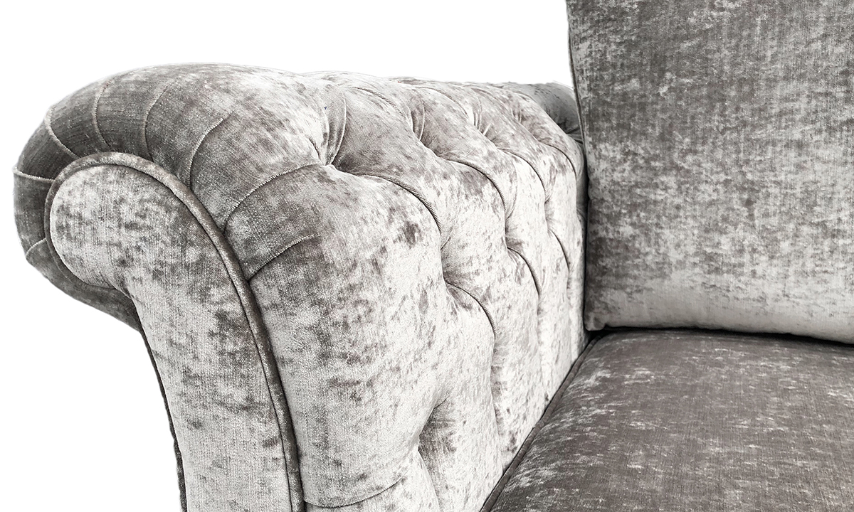 Lafayette Small Sofa Deep Button Arms Detail - Modena 13923 Shadow