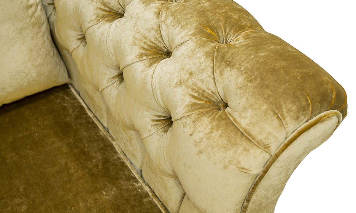 Letrec Sofa Arm Detail in Stella Mustard, Platinum Collection Fabric