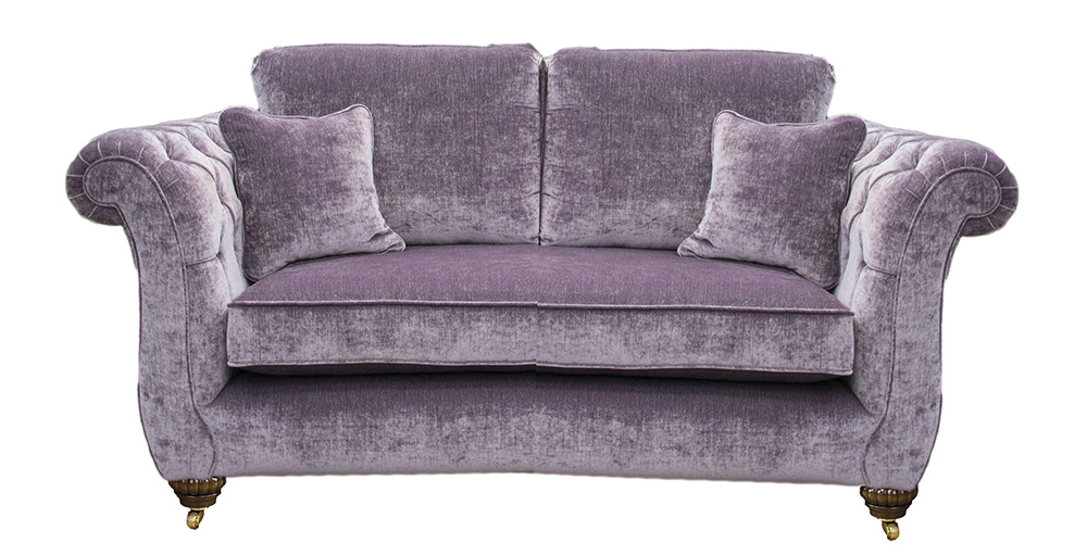 Lafayette Small Sofa with Deep Button Arm a Gold Collection Fabric