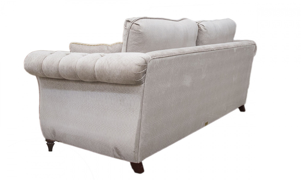 Lafayette Small Sofa with Deep Button Arms in a Platinum Collection Fabric