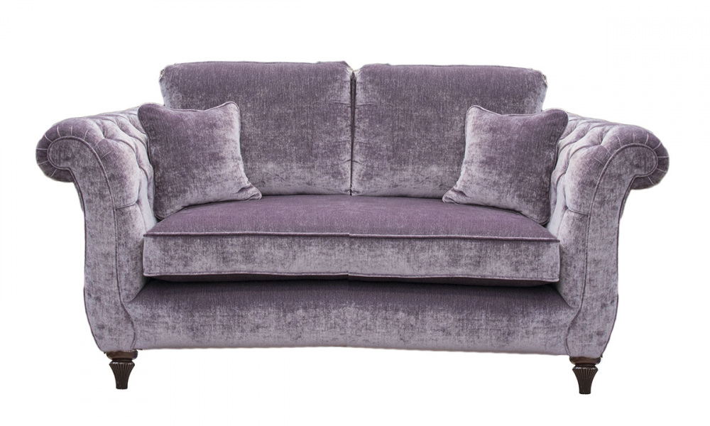 Lafayette Small Sofa with Deep Button Arms in a Gold Collection Fabric