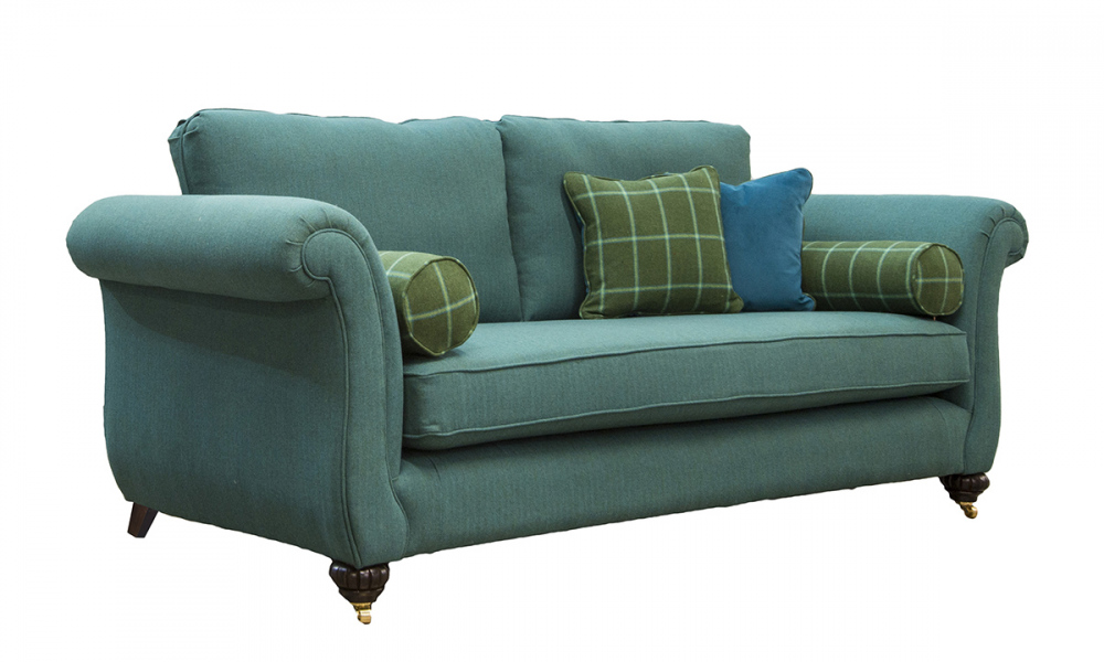 Lafayette Large Sofa in Foxford Amazon Sea Green, Platinum Collection Fabric