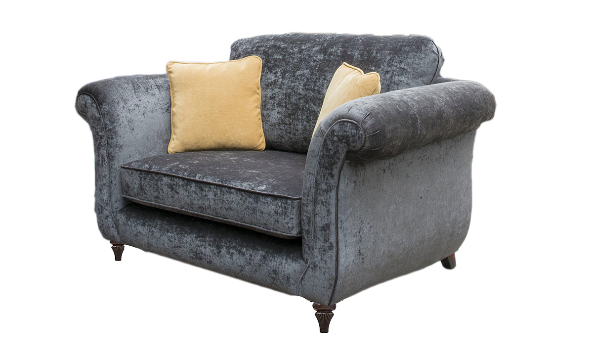 Lafayette Love Seat in Gold Collection Fabric