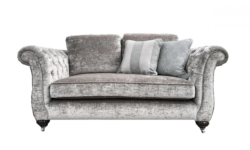 Lafayette Small Sofa with Deep Button Arms in Modena 13923 Shadow