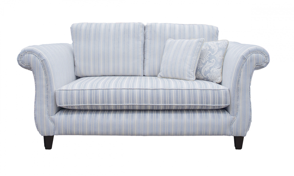 Lafayette 2 Seater Sofa in Tolstoy Stripe Ocean, Platinum Collection Fabric