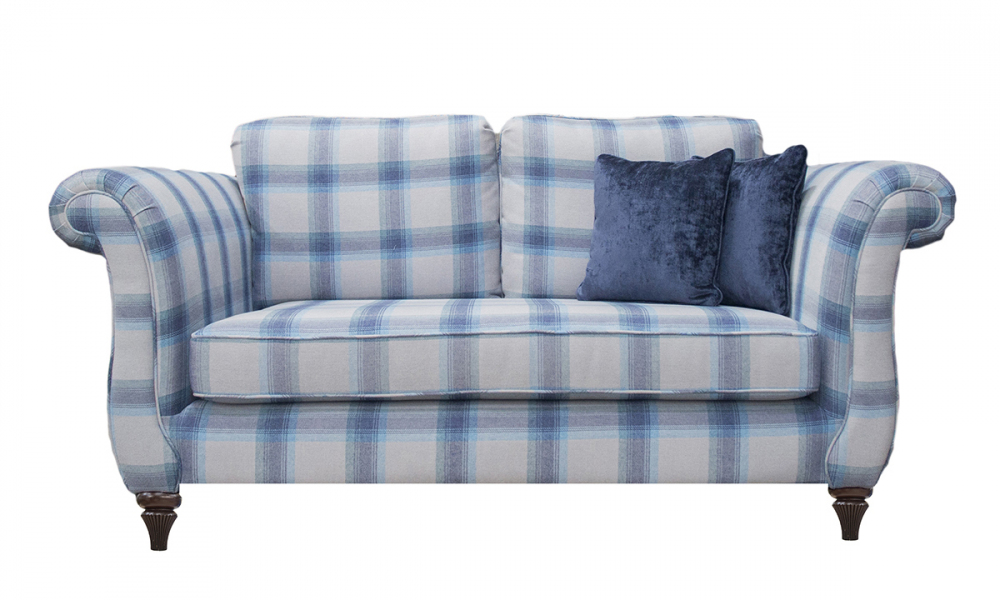 Lafayette Small Sofa in Aviemore Wedgewood Silver Collection Fabric