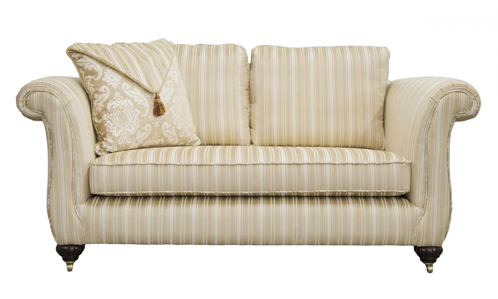 Lafayette Small Sofa in Tolstoy Straw Stripe, Platinum Collection Fabric