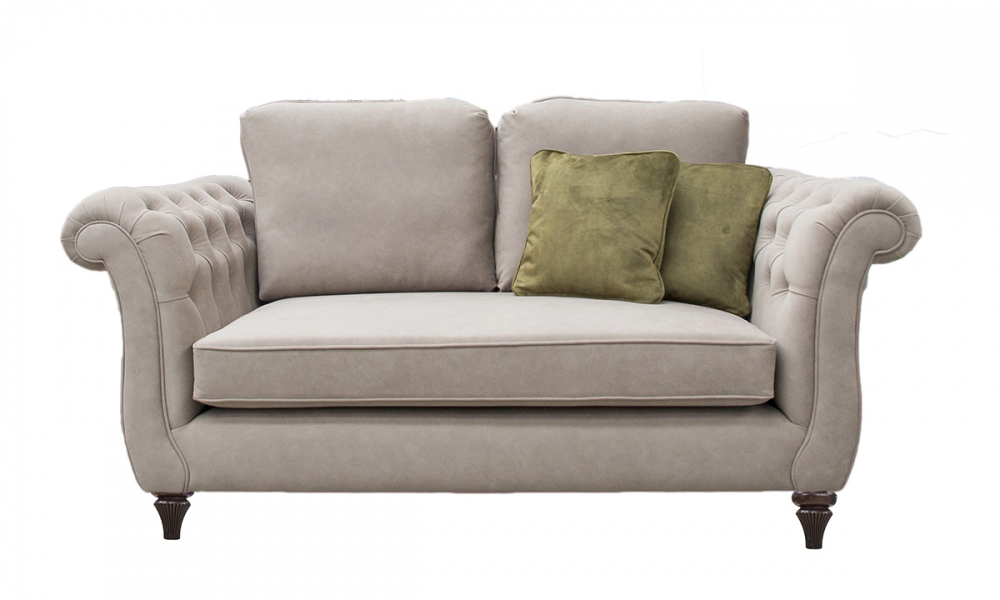 Lafayette Small Sofa with Deep Button Arms in Ross Dunbar sr19065 Mole