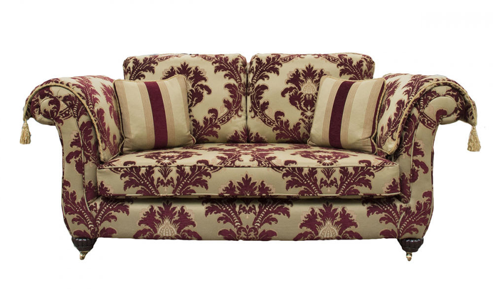 Lafayette Small Sofa in Pendragon Pattern, Platinum Collection Fabric