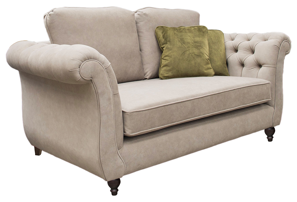 Lafayette Small Sofa with Deep Button Arm  in a Gold Collection Fabric