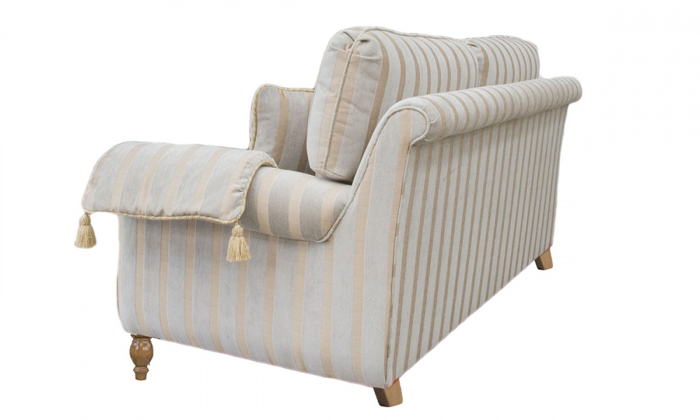 Lafayette Small Sofa in a  Silver Collection Fabric