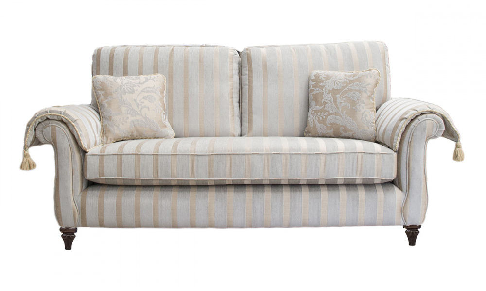 Lafayette 2 Seater Sofa (arm pads extra) in a  Silver Collection Fabric