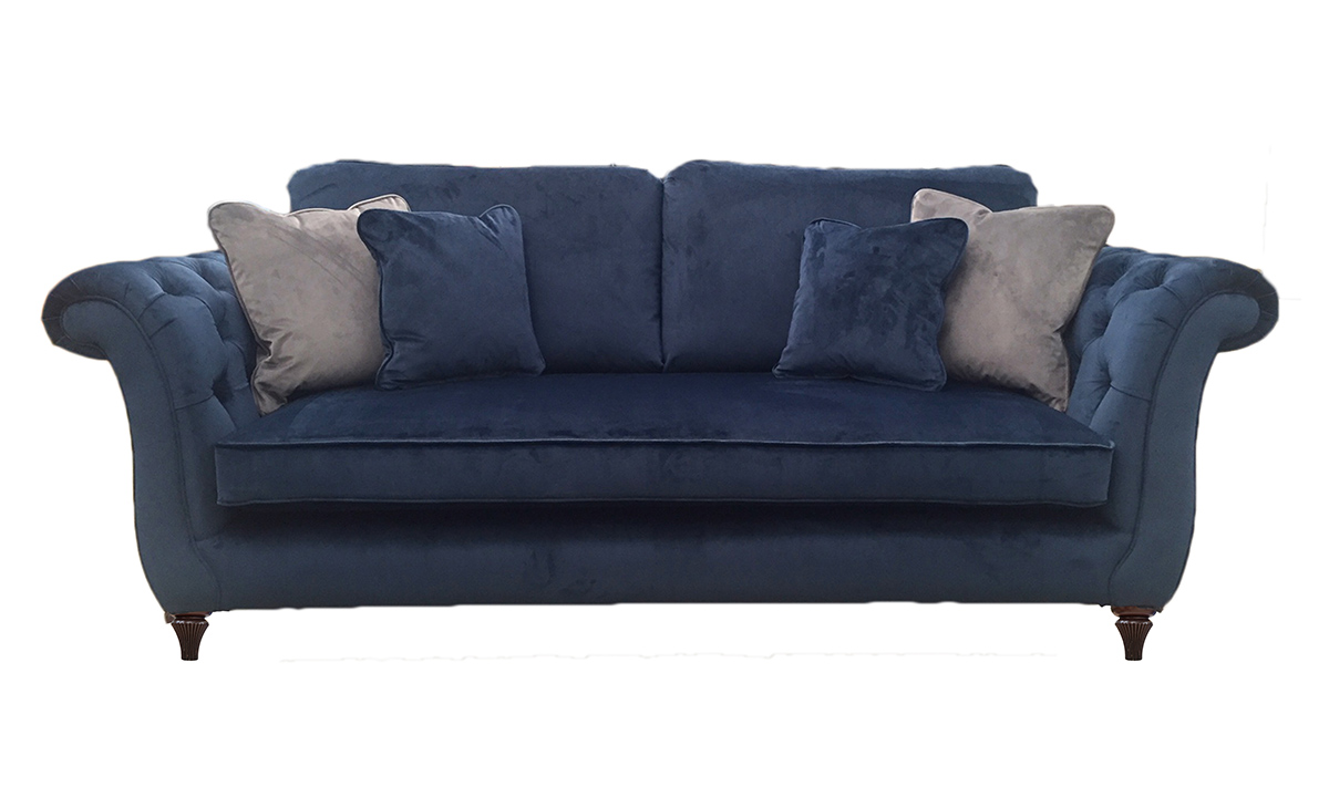 Lafayette Large  Sofa with Deep Button Arms in Customers Own Fabric