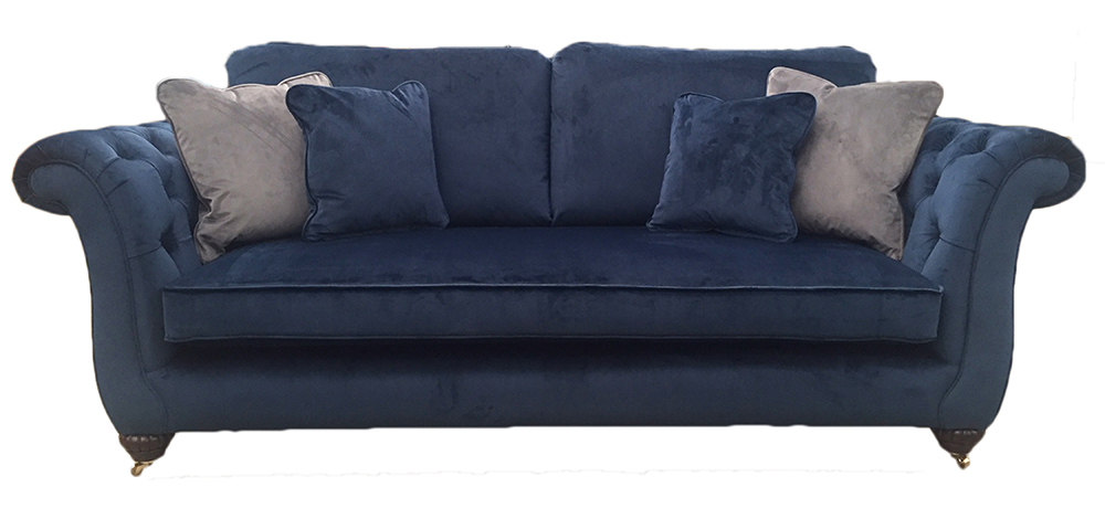 Lafayette Large Sofa with Deep Button Arms in  Customer Own Fabric