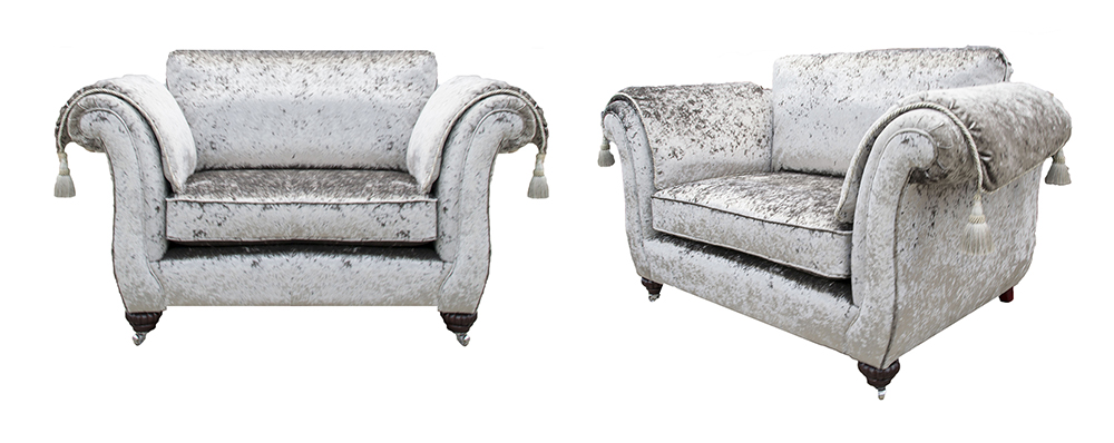 Lafayette Love Seat Sofa in a Platinum Collection Fabric