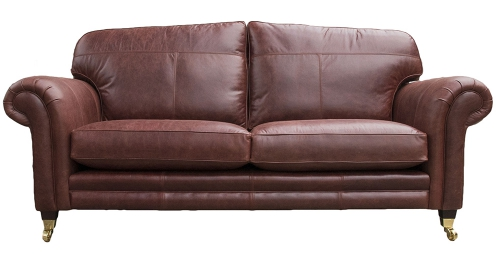 Leather Louis Large Sofa - Mustang Ox Blood