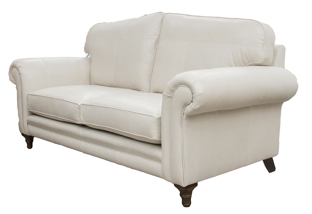Leather Louis Sofa Side - Mustang White