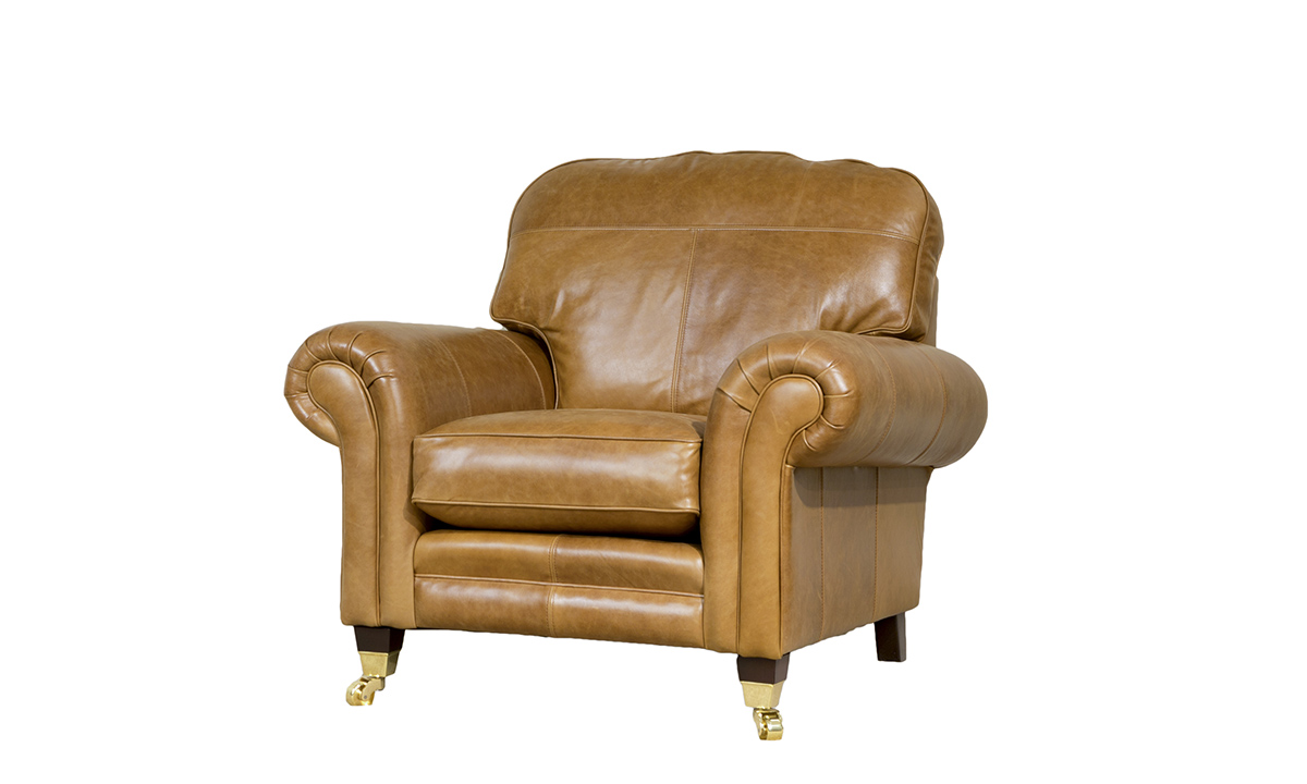 Leather Louis Chair in Mustang Tan