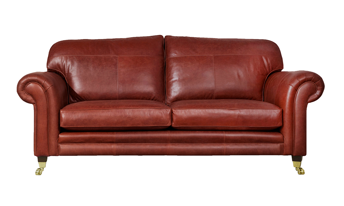 Large Leather Louis Sofa in  Mustang Wine