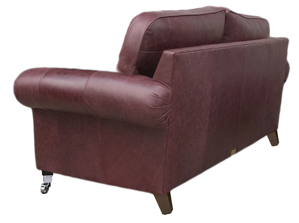 Leather Louis 2 seater back - Mustang Oxblood