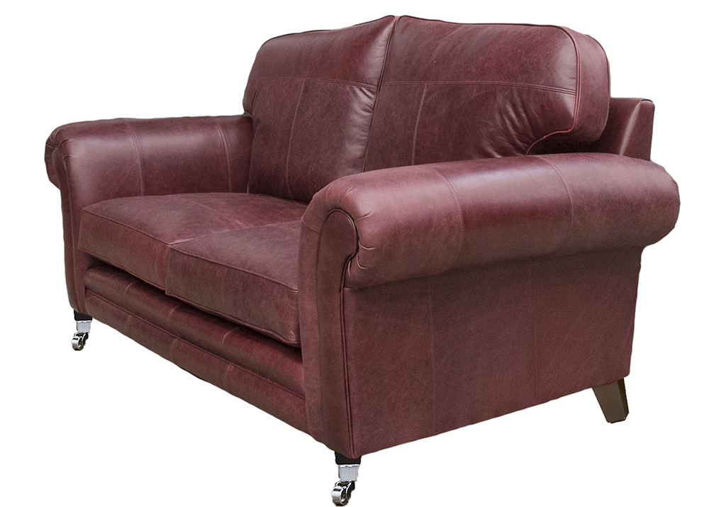 Leather Louis 2 seater side - Mustang Oxblood