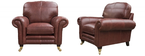 Leather Louis Chair - Mustang Ox Blood