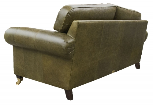 Leather Louis Large Sofa - Mustang Olive Green