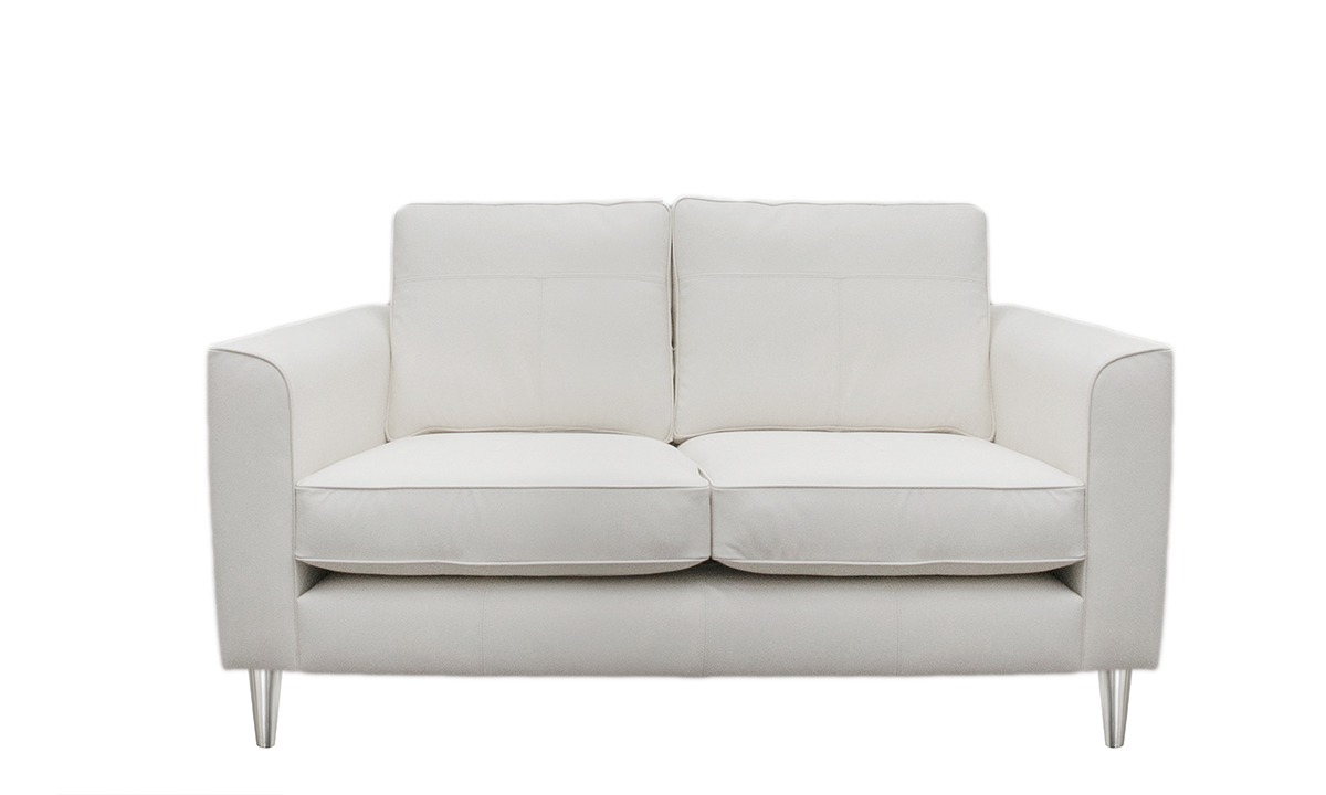 Small Leather Nolan Sofa in Capri Chalk