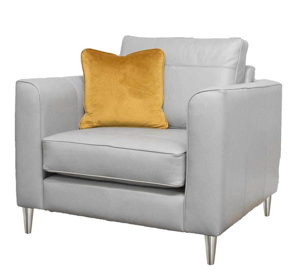 Leather Nolan Chair Side Chelsea Dove Grey