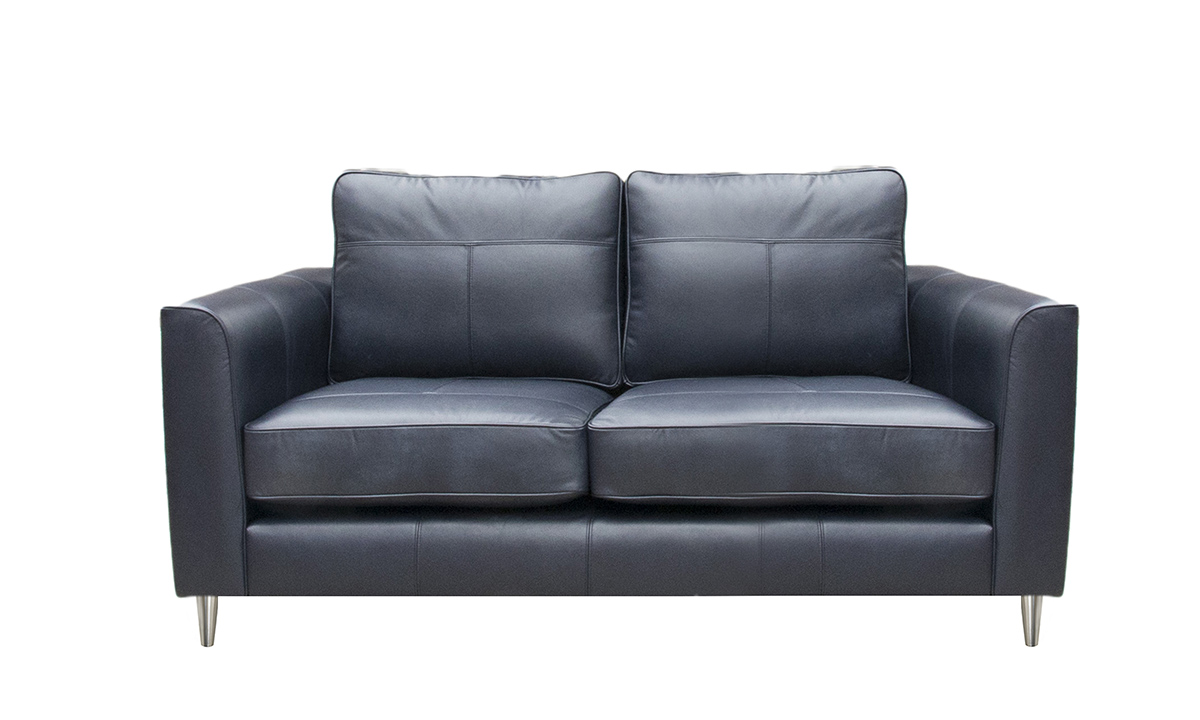 Small Leather Nolan Sofa in Chelsea Blueberry