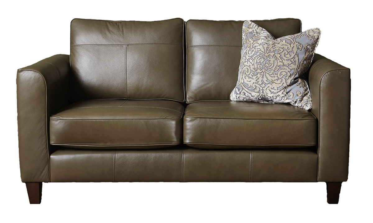 Small Leather Nolan Sofa in  Chelsea Dark Olive