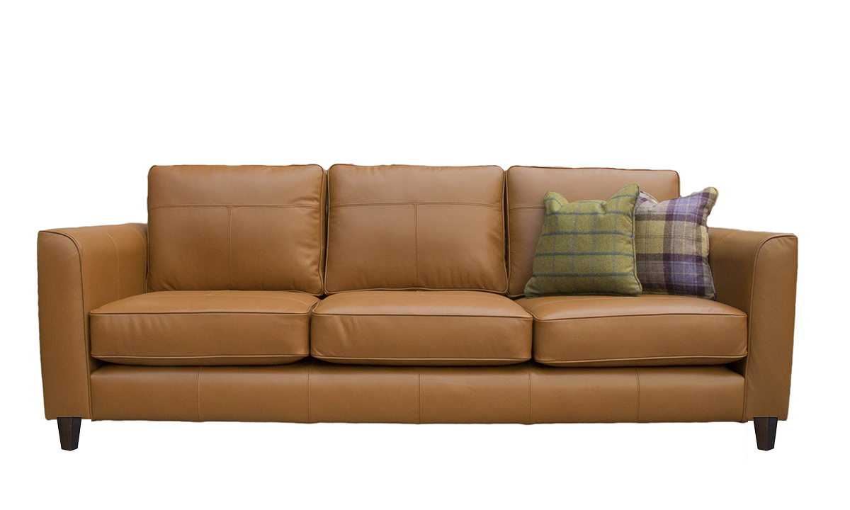 Large Leather Nolan Sofa in Lomond Liquor