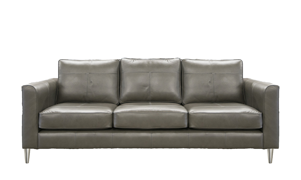 Leather Nolan Large Sofa in Chelsea Moonstone